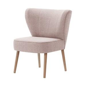 Jasnoróżowy fotel My Pop Design Adami