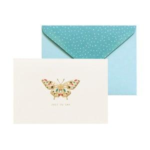 Zestaw 10 kart okolicznościowych Portico Designs FOIL Butterfly