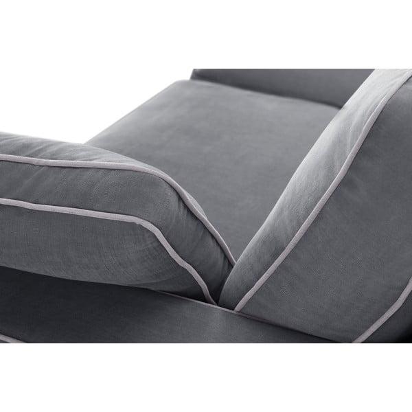 Sofa trzyosobowa Jalouse Maison Serena, szara