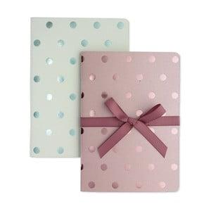 Zestaw 2 notesów A6 Go Stationery Shimmer Pastels