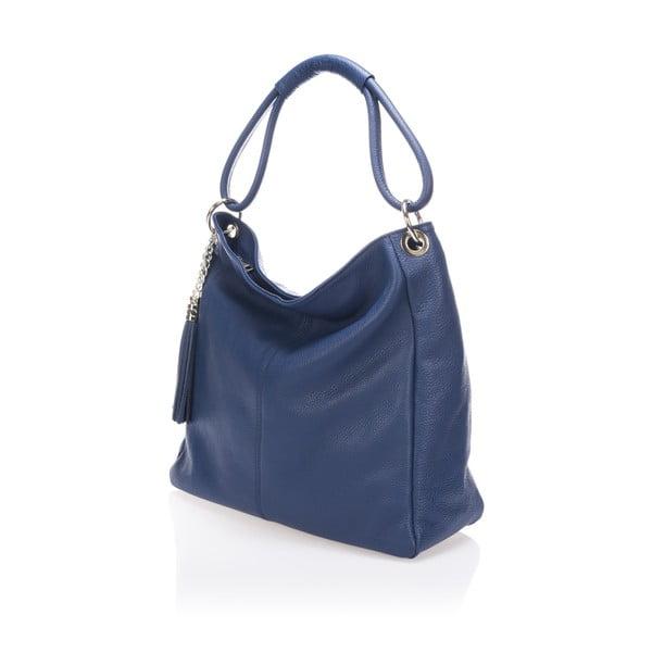 Niebieska torebka skórzana Lisa Minardi Herta