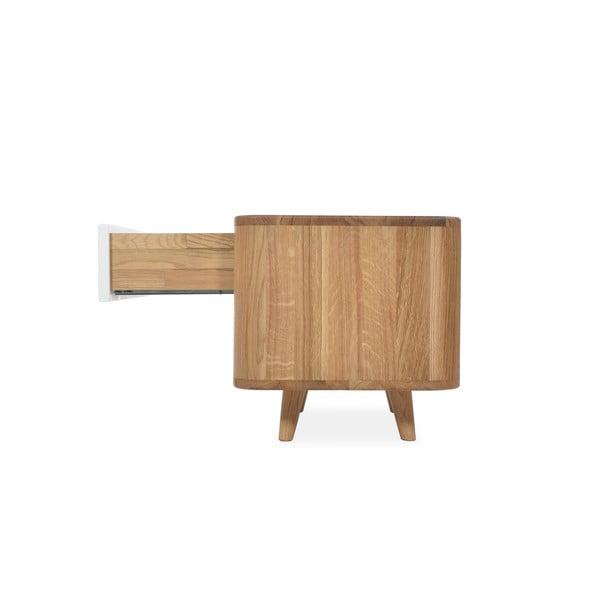 Dębowy stolik nocny Gazzda Ena One, 60x42 cm
