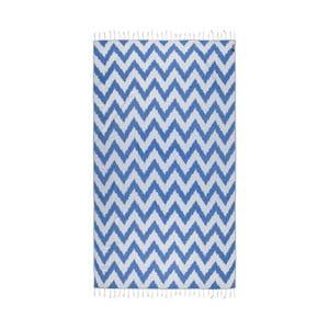 Niebieski ręcznik hammam Kate Louise Laila, 165x100cm