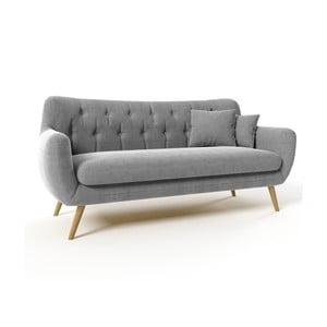 Szara   sofa trzyosobowa Wintech Lagos Soro