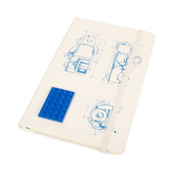 Notes w linie Moleskine Lego White
