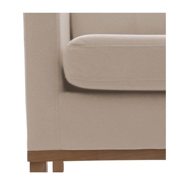 Bezowa sofa dwuosobowa z naturalnymi nogami Vivonita Jonan