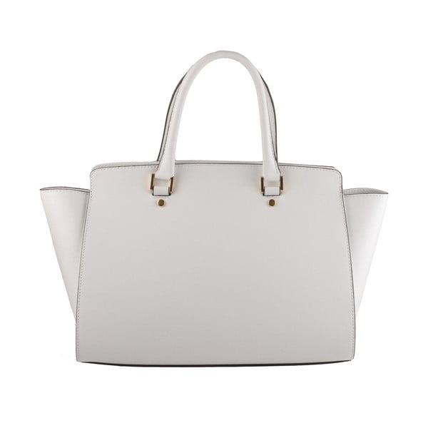 Skórzana torebka Emilio Masi Harbour, biała