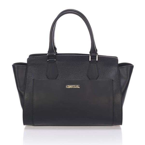 Skórzana torebka Krole Kristen, czarna