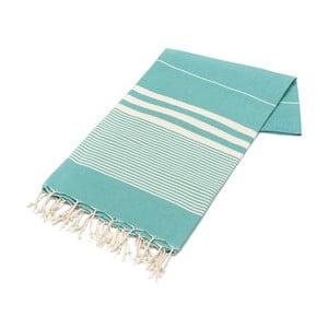 Ręcznik hammam American Stripes Mint & White, 100x180 cm