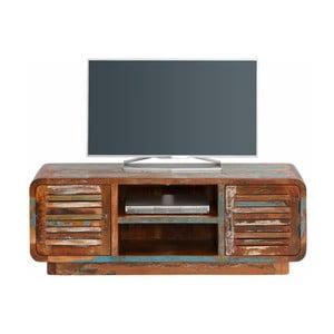 Stolik pod TV z drewna z recyklingu Støraa Tulika, szerokość140cm