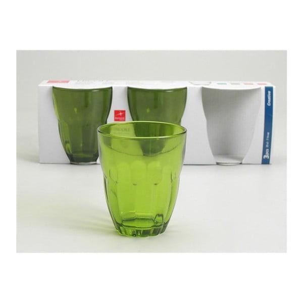 Zestaw szklanek Ercole Green, 3 szt.