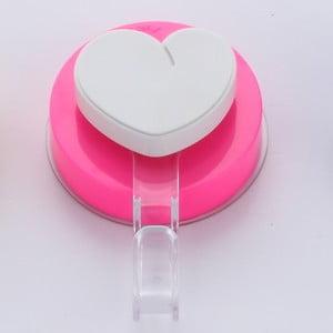 Haczyk z przyssawką ZOSO Heart Pink
