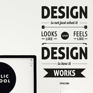Naklejka ścienna Design by Steve Jobs, czarna