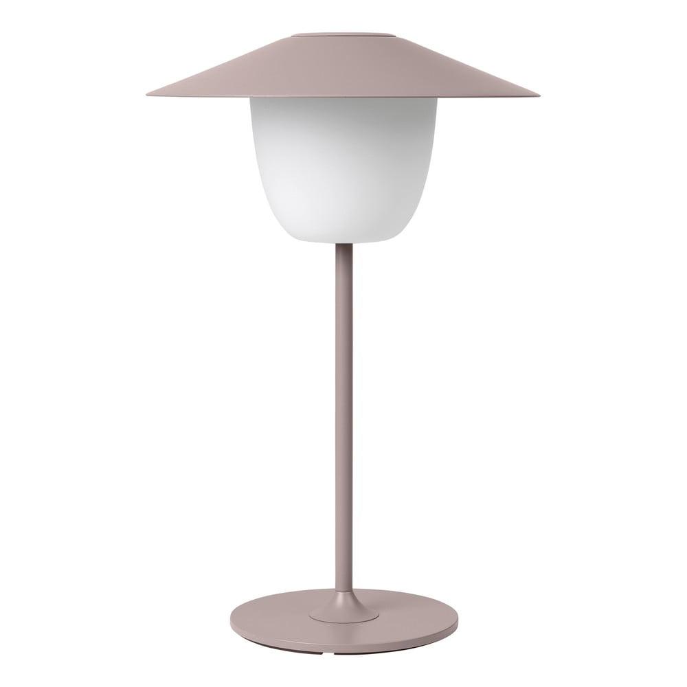 Jasnoróżowa niska lampa led Blomus Ani Lamp
