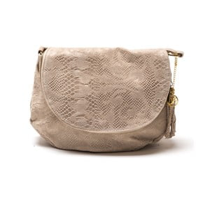Skórzana torebka Frape, beżowa
