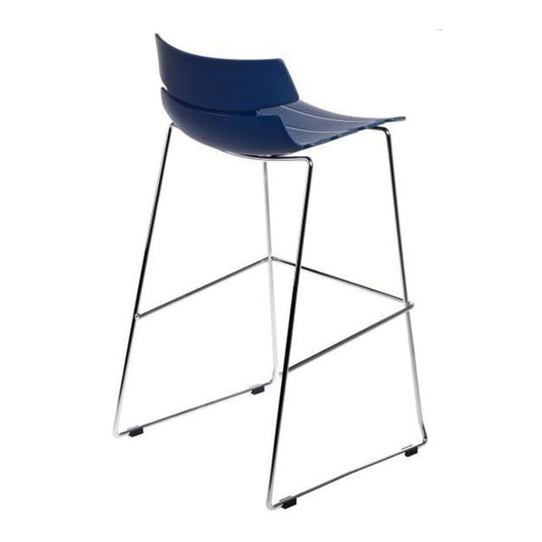 Krzesło barowe D2 Techno, niebieskie