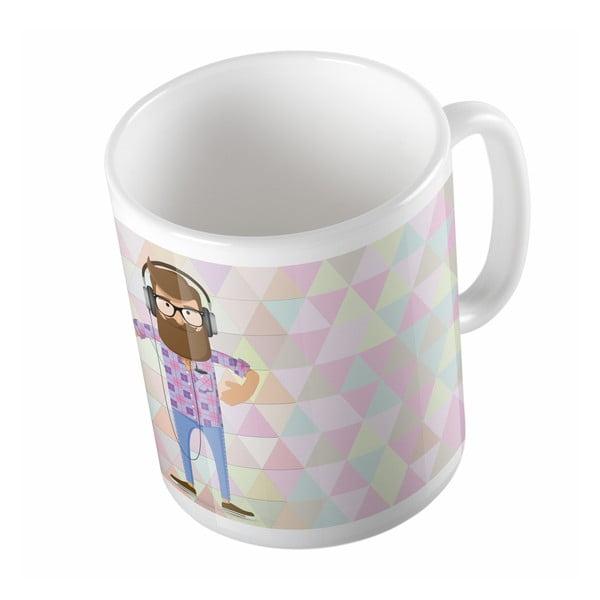 Ceramiczny kubek Love Music, 330 ml