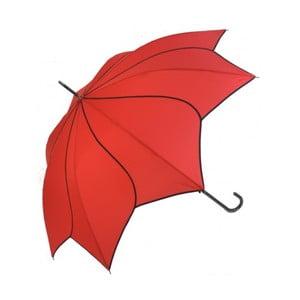 Czarny parasol Ambiance Sunglower Red