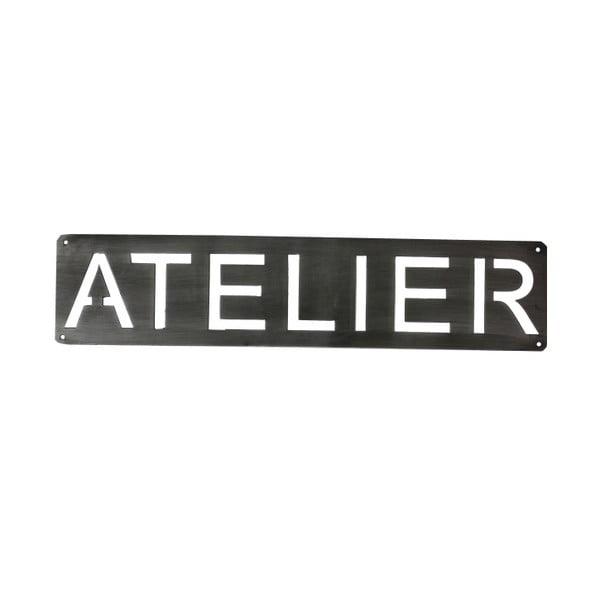 Metalowy napis naścienny Atelier, 50 cm