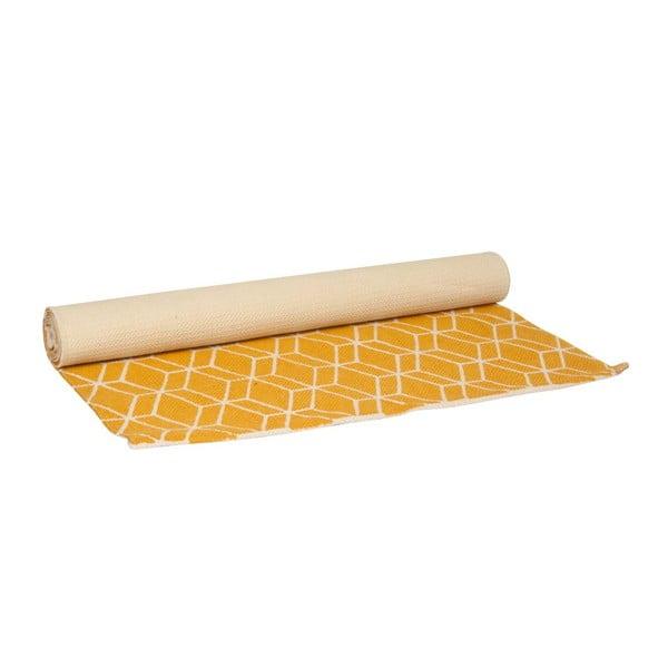 Dywan Hexagon Yellow, 140x70 cm