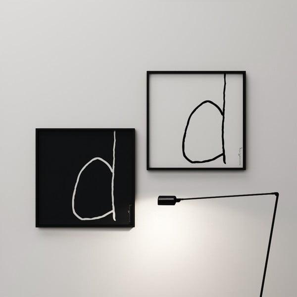 Plakat Litera D, 50x50 cm