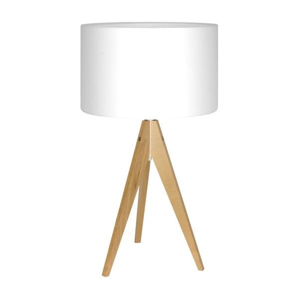 Biała lampa stołowa Artist, brzoza, Ø 33 cm