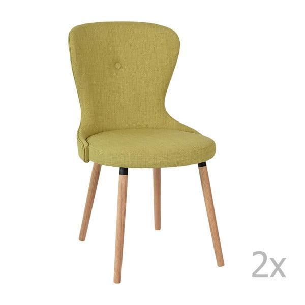 Zestaw 2 krzeseł Ordinary, zielone