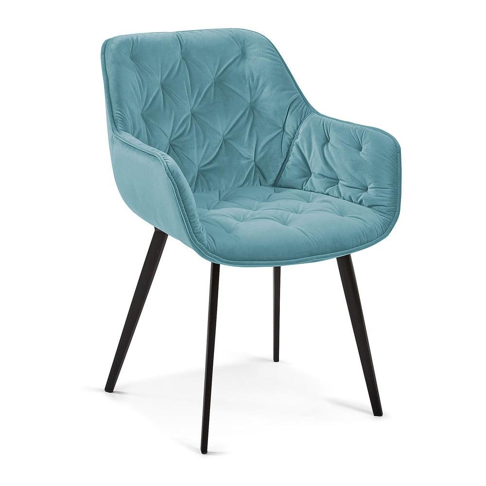 Turkusowoniebieskie krzesło do jadalni La Forma Mulder