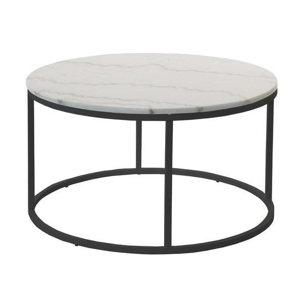 Marmurowy stolik z czarną konstrukcją RGE Accent, ⌀85cm