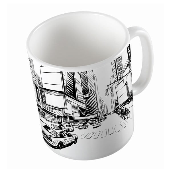 Ceramiczny kubek New York, 330 ml