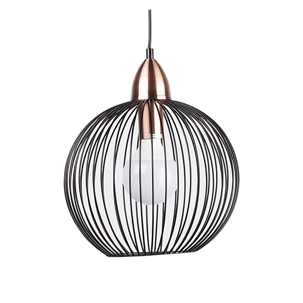 Czarna lampa wisząca sømcasa Tibi, ø 35 cm