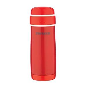 Czerwona butelka termiczna Pioneer Capsule, 320 ml