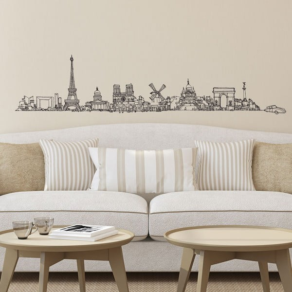 Naklejka All Paris, 30x150 cm