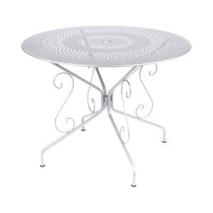 Biały stół metalowy Fermob Montmartre, Ø 96 cm