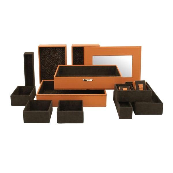 Szkatułka na biżuterię Module Orange, 30x21x18 cm