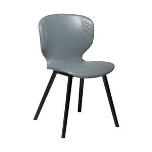 Szare krzesło ze skóry ekologicznej DAN-FORM Denmark Hawk