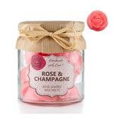 Zestaw 18 małych świeczek zapachowych Rose and Champagne