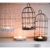 Lampion Bird Cage Light 19 cm, biały
