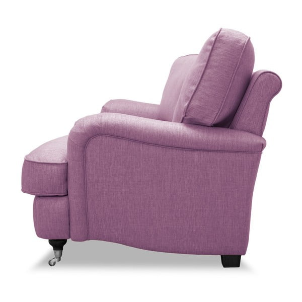 Różowa sofa 3-osobowa Vivonita William