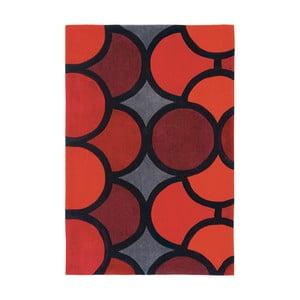 Czerwony dywan Asiatic Carpets Harlequin Waves, 150x90 cm