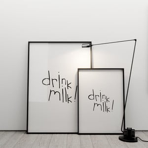 Plakat Drink milk, 50x70 cm