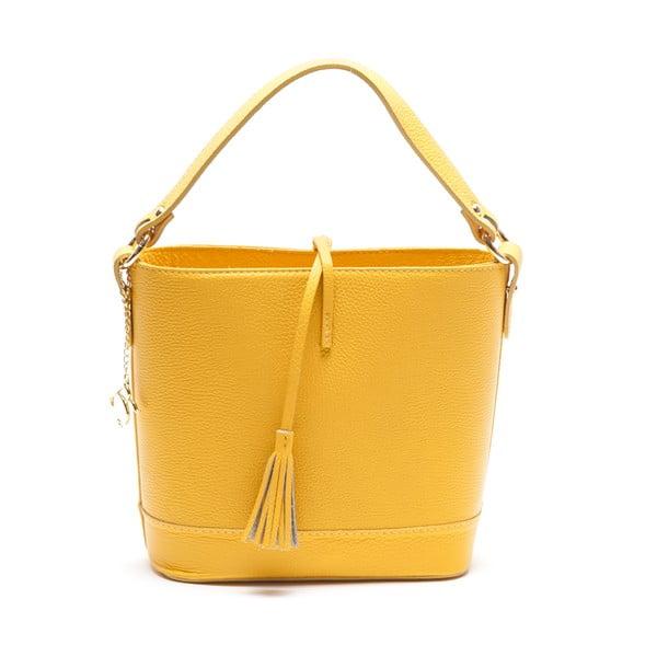 Skórzana torebka Renata Corsi 1162, żółta