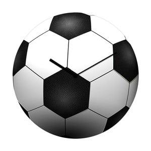Zegar szklany Futbol, 34 cm