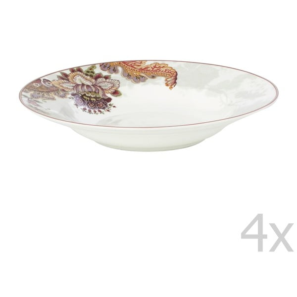 Zestaw 4 talerzy Elisabeth, 24,5 cm