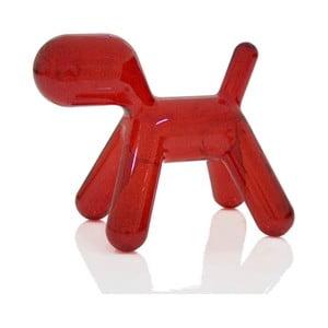 Krzesło Puppy przejrzyste czerwone, 56 cm