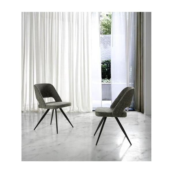 Szare tapicerowane krzesło Ángel Cerdá Rotator