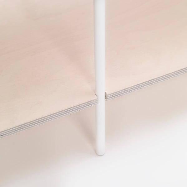 Biblioteczka One - biała, 149x77 cm