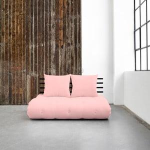 Sofa rozkładana Karup Shin Sano Black/Pink Peonie