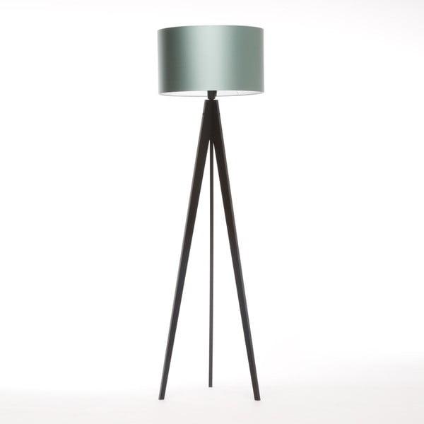Lampa stojąca Artista Black/Light Green, 125x42 cm