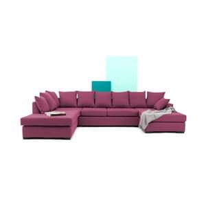 Różowa sofa narożna Vivonita Linus